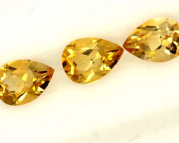1.85 CTS CITRINE NATURAL 3 FACETED STONES 1.85CTS ADG-604