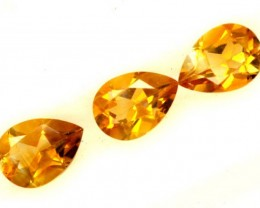 CITRINE NATURAL 3 FACETED  STONES 1.80CTS ADG-605