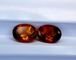 3.25Crt Madeira Citrine Pair  Natural Gemstones JI31
