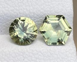 1.9tcw Unheated greenish yellow sapphire