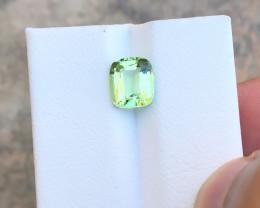 1.90 Ct Natural Green Transparent Tourmaline Ring Size Gemstone