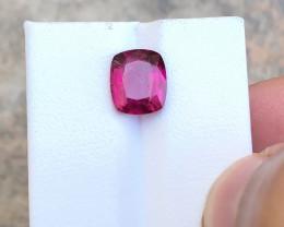 3.05 Ct Natural Red Transparent Rubellite Tourmaline Gemstone