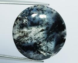 22.60 ct Natural Dendrite Opal Round Cabochon  Gemstone