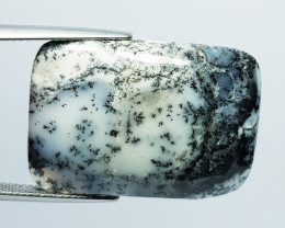30.30 ct Natural Dendrite Opal Rectangular Cabochon  Gemstone