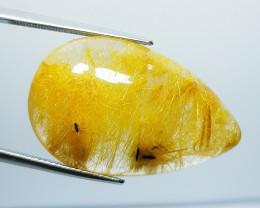 41.42 Ct Top Quality Stunning Pear Cut Natural Golden Rutile Quartz