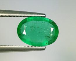 1.76 ct  Fantastic Gem  Lovely Oval Cut Natural Emerald