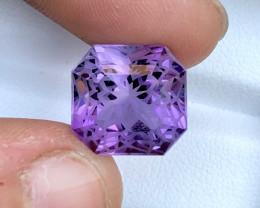 Gorgeous Color 9.65 ct Flower Cut Amethyst