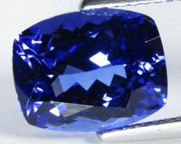 5.38Cts Massive Natural Blue Color Tanzanite Cushion Cut Collection Gem VID
