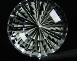 12.10Cts Genuine Amazing Unheated Round  Precision Cut White Topaz See VEDI
