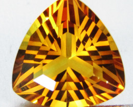 8.61Cts Wow Amazing Natural Citrine trillion precision Cut  Collector Gem S