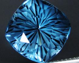 10.00Cts Wonderful Natural London Blue Topaz Cushion Magic Cut Loose Gem VI