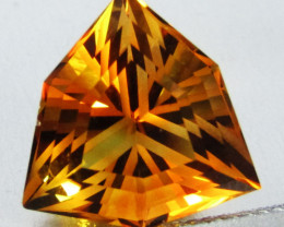 6.59Cts Wow Amazing Natural Citrine Trillion precision Cut  Collector Gem S