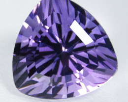 6.39Cts Unique Ultra Quality Natural Amethyst Trillion  Custom Cut Loose Ge