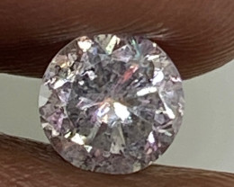 (A) Certified $980 Brilliant  0.69cts SI3 Nat White Round Loose Diamond