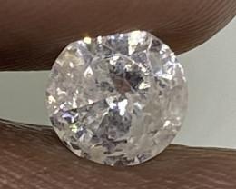 (B) Certified Nat $662 Fiery 0.69cts I2 White Round Loose Diamond