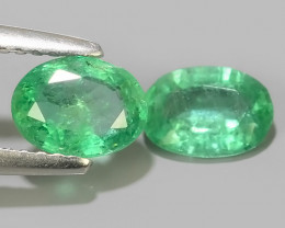 1.35 CTS IMPRESSIVE OVAL BEST COLLECTION OF NATURAL COLOMBIAN EMERALD