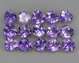 6.25 CTS AWESOME NATURAL AMETHIYST HEART COLLECTION GEM!!