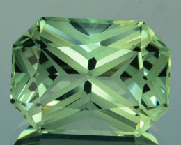 ~CUSTOM CUT~ 6.17 Cts Natural Prasiolite / Amethyst Fancy Octagon Brazil