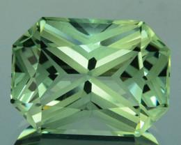 ~CUSTOM CUT~ 6.17 Cts Natural Prasiolite / Amethyst Fancy Octagon Brazil