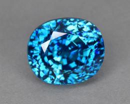 8.82 Cts Mesmerizing Beautiful Lustrous Natural Cambodian Blue Zircon