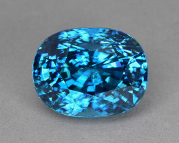 14.14 Cts Dazzling Wonderful Color Natural Cambodian Blue Zircon