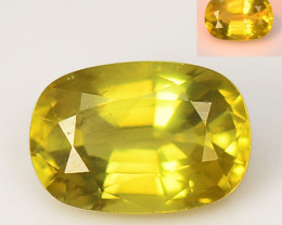 *NoReserve*Chrysoberyl 1.45  Cts Yellowish Green Color Natural Gemstones