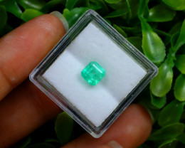 1.15Ct Colombian Muzo Emerald Neon Mint Green Beryl C0923
