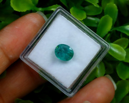 1.38Ct Colombian Chivor Emerald Neon Mint Green Beryl C0924