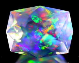 4.96Ct ContraLuz Cushion Cut Mexican Very Rare Species Opal C0927