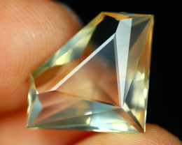 3.37Ct Natural Mexican Fire Opal Crystal Fire Opal Octagon Cut C0928