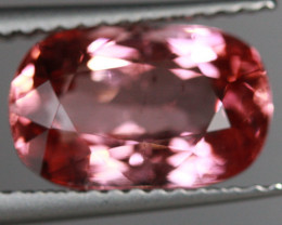 2.98 CT Orangy Red Excellent Cut AAA Mozambique Tourmaline-TA61