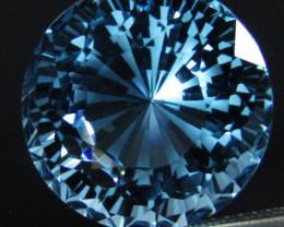 16.55Cts Sparkling Natural Baby  Blue Topaz Round precision Cut Loose Gem V