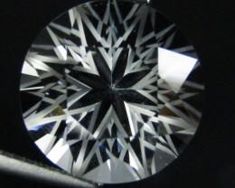 9.00Cts Genuine Amazing Unheated Round precision Cut White Topaz See VEDIO