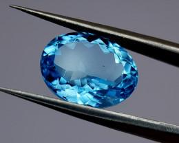 7.52Crt Blue Topaz Natural Gemstones JI32