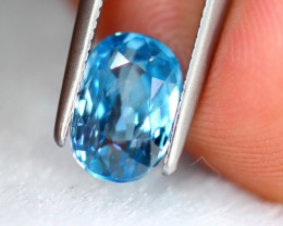 2.58ct Natural Blue Zircon Oval Cut Lot GW8511