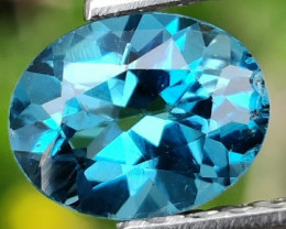 2.05 CTS~EXCELLENT OVAL CUT LONDON BLUE NATURAL TOPAZ NR!!