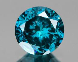 *No Reserve*Diamond 0.46 Cts Sparkling Rare Fancy Blue Color Natural