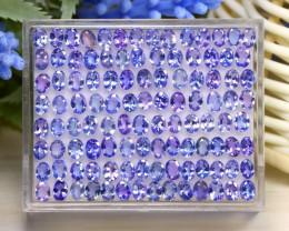 17.28Ct Oval Cut Natural Purplish Blue Tanzanite Lot Box A1022
