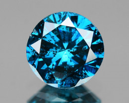 *NoReserve* Blue Diamond 0.46 Cts Sparkling Rare Fancy Color Natural Treate