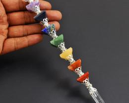 Seven Chakra Healing Pyramid Crystal Point Pencil