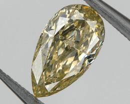 Natural Brown Yellow Diamond 0.32 Ct SI2 Pear Untreated, Wedding Diamond