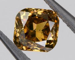 0.32 Ct. SI2 Fancy Orange Brown Loose Natural Diamond Cushion Untreated