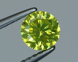 0.60 CT yellow  Diamond Gemstones top luster