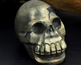 Genuine Pyrite Skull carving