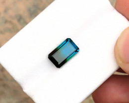 HGTL CERTIFIED 2.62 Ct Natural Bi Color Transparent Tourmaline Ring Size Ge