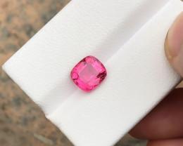 HGTL CERTIFIED 2.06 Ct Natural Pinkish Transparent Rubellite Tourmaline Gem