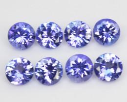 Tanzanite 3.14 Cts 8pcs rare Violet Blue Color Natural Gemstone
