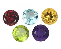 *NoReserve*Fancy Gemstones 4.66 Cts 5Pcs Mix Color Natural