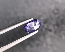 0.76 Natural Corundum  Voilet Sapphire Gemstone