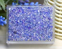 18.67Ct Round Cut Natural Purplish Blue Tanzanite Lot Box B1102